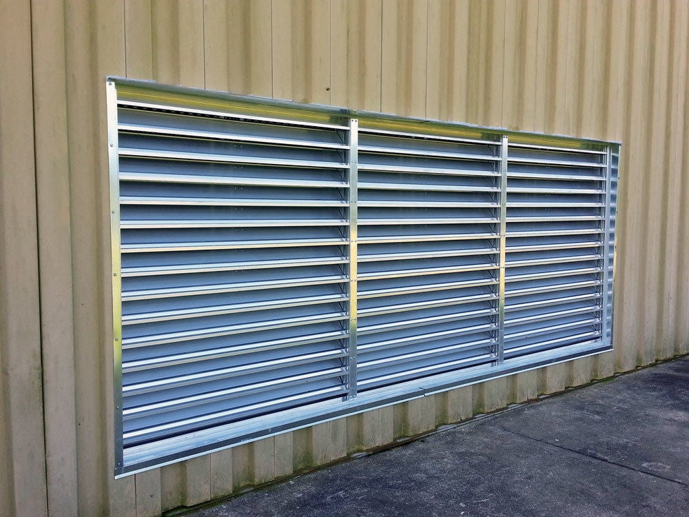 EcoStream Industrial Wall Louver Supply Air