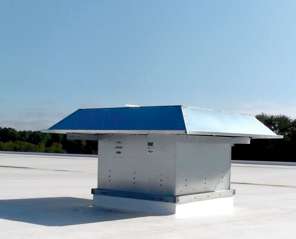 ideal aluminum PressureSteram roof fan