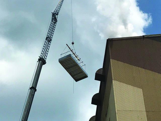 hoisted MCI installation