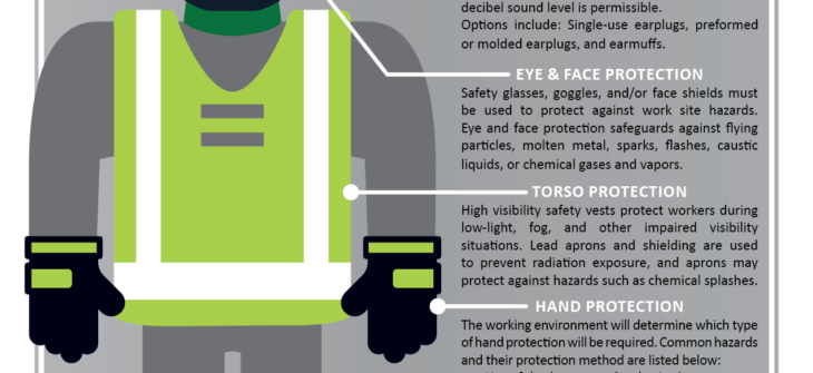 Moffitt PPE Info Graphic Safety Guy